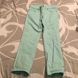 Girls's Children Place mint green jeans, size 6